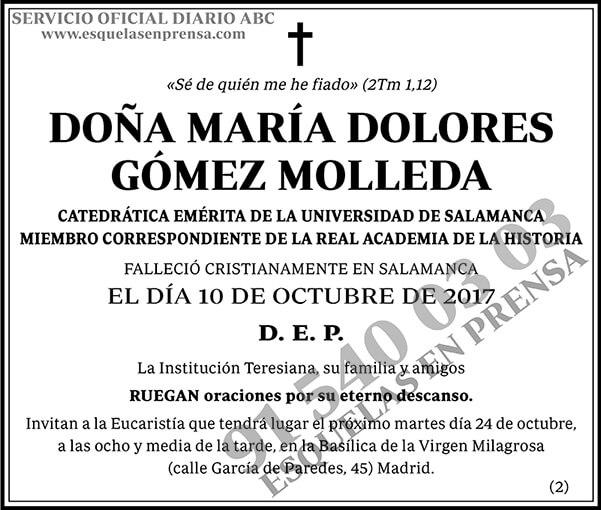 María Dolores Gómez Molleda